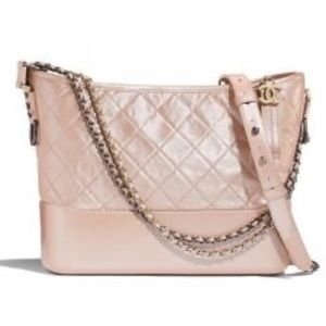 CHANEL: GABRIELLE Large Hobo Bag, Iridescent Pink